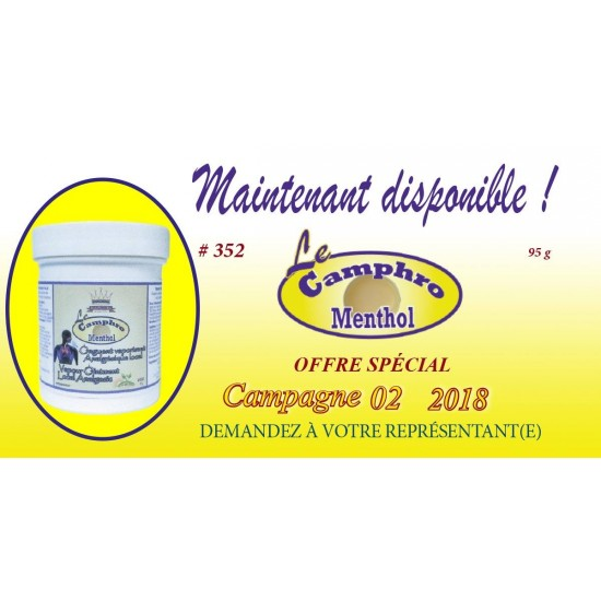 Onguent Camphro - Menthol Distributions Jean-Pierre Roy 95g