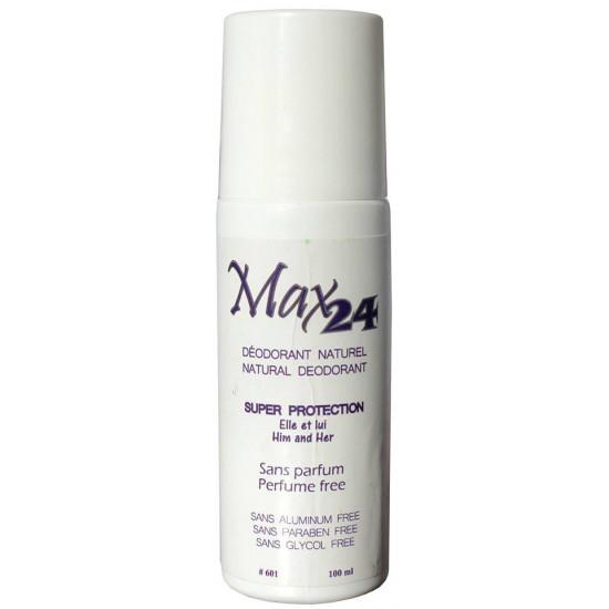 MAX24 Déodorant Naturel pour Elle et Lui sans parfum  Distributions Jean-Pierre Roy