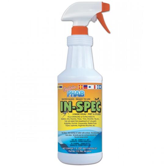 In-Spec Insecticide à Base d'eau pour Maison et Jardin Prêt à Utiliser 1L