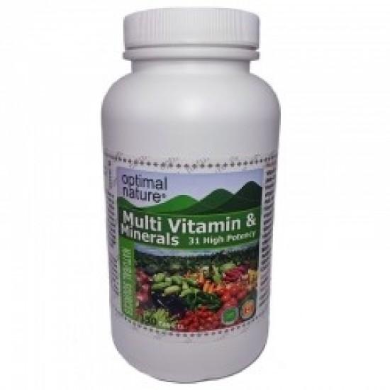 Multi Vitamines et Minéraux  150 Comprimés