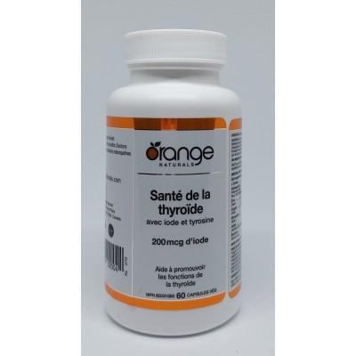 Santé de la Thyroïde avec Iode et Tyrosine 60 Capsules