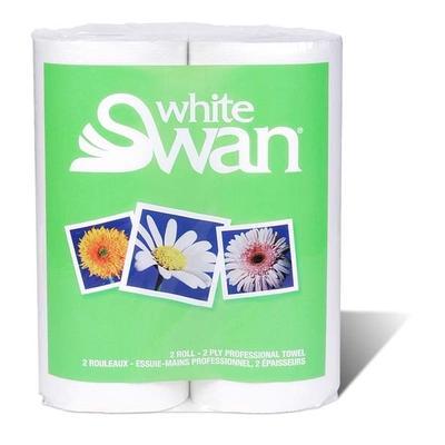 Essuie-Mains White Swan 2 épaisseurs, 2x80 Feuilles
