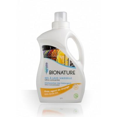 Gel Lave-Vaisselle Avec agent de rinçage Ultra-concentré BioNature 1.7L