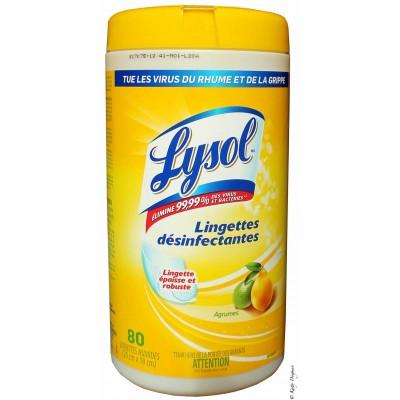 Lingettes Désinfectantes Lysol Agrumes 80+20% /100 lingettes