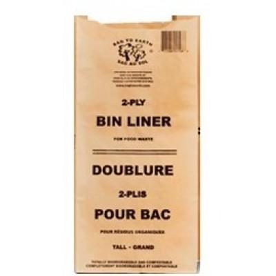 Grand Sac Compost Doublure Papier Sac-Au-Sol 0110 12Lx8Lx22H