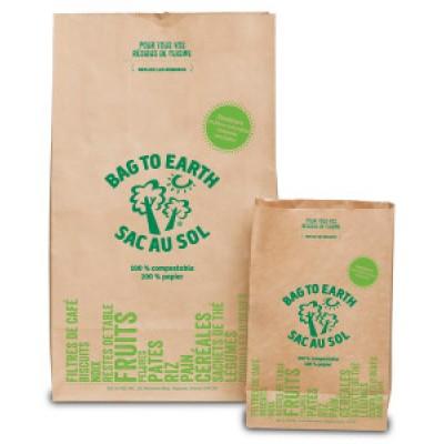 GRAND Sacs de compost Résidus de cuisine avec Cellulose 12Lx8Lx22H