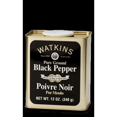 Poivre Noir Moulu Pur - Petit Étain Watkins 340g