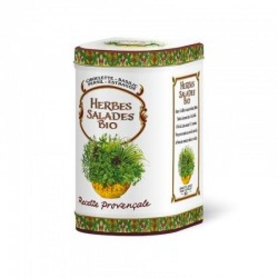 Herbes Spécial Salades Bio Boîte Métal de Luxe 40g