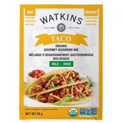 Mélange Assaisonnement pour Tacos Biologique Doux Watkins 28g